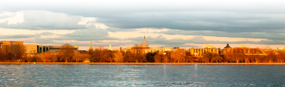 DC waterfront and monuments